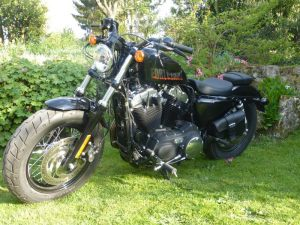 Sacoches Myleatherbikes Harley Sportster Forty Eight (6)